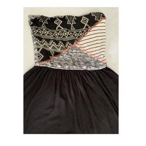 Anthropologie Scrapbook Strapless Boho Maxi Dress